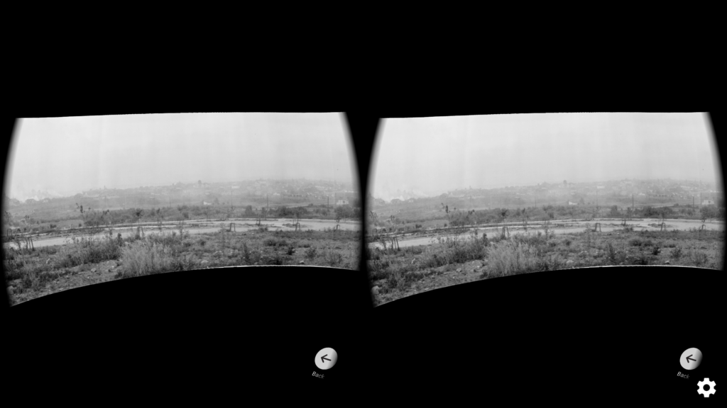 Screenshot of VR view of historical panorama